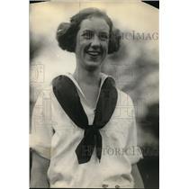 1921 Press Photo Miss Mildred Thompson, sophomore at Albany, NY