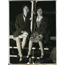 1931 Press Photo Gladys and Lilian Sacasa landed from the SS Sta Teresa at LA