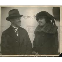 1922 Press Photo Notables arriving in NY on the SS Pittsburg on her 1st trip