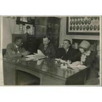 1927 Press Photo Chicago Parole board, Sam Washington,Hinton Clabough,WW Rhoades