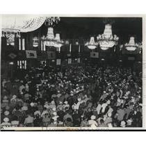 1933 Press Photo NEA delegates convention at Chicago's Stevens Hotel