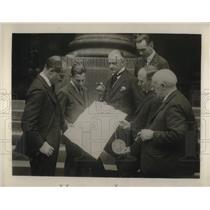 1924 Press Photo Grant of patent for Portland Cement Co. Joseph Aspdin