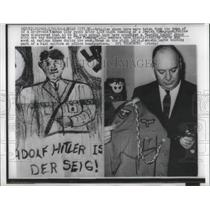 1960 Press Photo Items taken off a youth the night of a synagogue bombing