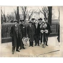 1928 Press Photo Anti Horthy picketed in front of the White House