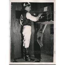 1939 Press Photo Johnny Oros 17 year old Apprentice Jockey