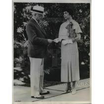 1933 Press Photo John F Curry Tammany Chieftain & Mrs Curry Winning Ticket