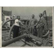 1926 Press Photo George Allen, G.A. Welles and C.C. West Portland Cement Co.