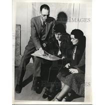 1931 Press Photo Percy Pangborn, Mrs. Opal Pangborn and Mrs. Percy Pangborn