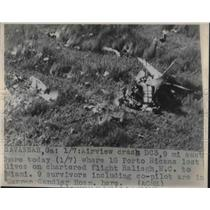 1948 Press Photo Airview crash where 18 puerto ricans died.