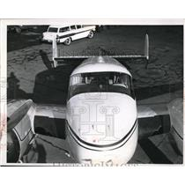 1956 Press Photo Beechcraft business planes by Aircraft service.
