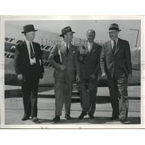 1940 Press Photo National Advisory Committee of Aeronoautics inspects Kansas.