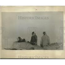 1929 Press Photo Major Baker, Colonel William Mac Alpine Rescued from Arctic