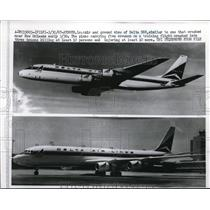 1967 Press Photo Air & Ground View Of Delta DC8