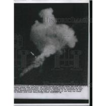1955 Press Photo Smoke From Two Navy Jets Fighters Crashing in San Jose