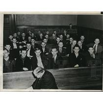 1937 Press Photo CIO Automobile Workers Union in Court at Ford Hearing