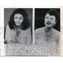 """1950 Press Photo Both Pictures of Actress Nancy Andrews in """"Be A Mess"""""""