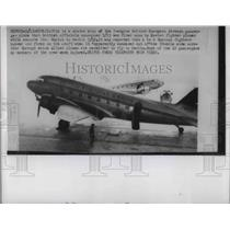 1953 Press Photo Soviet fighter fired upon the 2-engine British European Airways