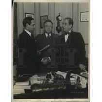 1927 Press Photo Harry Paul, Jewish actor Ben Adler, William Feinberg