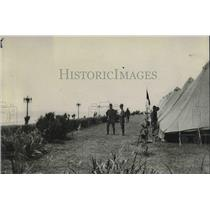 1920 Press Photo Tx National Guard troops in camp in  Galveston