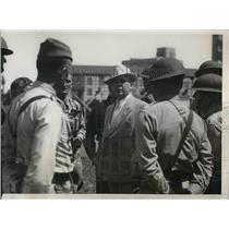 1934 Press Photo Col. John C.Hanley, Command the Wisconsin Natl. Guard at Kohler