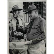 1937 Press Photo Colonel Albert Whitcomb & Lt Col P.W. Fechtman, Ind. Natl Guard