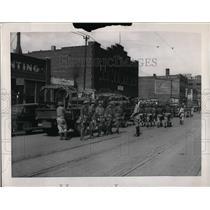 1937 Press Photo National Guardsmen in Omaha, Nebraska