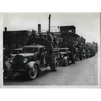 1937 Press Photo Ohio Natl Guard in Cleveland during steel strike