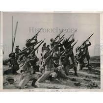 1938 Press Photo National Guardsmen on manuevers in San Antonio, Texas