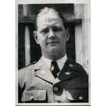 1937 Press Photo Natl Guardsman John V. White, befroe girlfriend killed him