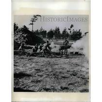 1941 Press Photo Artillery field practice at Ft Bragg, N.C.