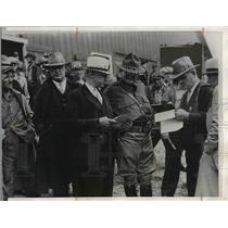 1933 Press Photo Maj Gen Matt Tinley, Iowa Natlk Guard, Lohrman, Stevens. Willey