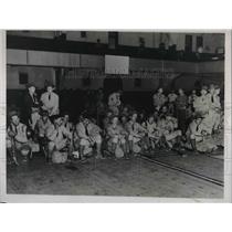 1937 Press Photo Ohio Natl Guard in Cleveland for steel strike