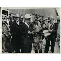 1933 Press Photo Maj Gen Matt Tinley, Iowa Natl Guard, Lohrman, Stevens, Willey