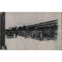 1930 Press Photo Gen. Jake Wolter and guardsmen at Galveston Strike.