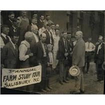 1923 Press Photo Dept. of Agriculture on their 3rd annual farm study tour