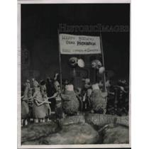 1940 Press Photo Bugville parades in celebration of the birthday of Patriarch.