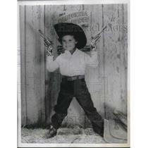 1957 Press Photo Susan Calaca, California Rodeo - nec54525