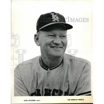 1962 Press Photo Marv Grisson, Los Angeles Angels Coach - nes13643