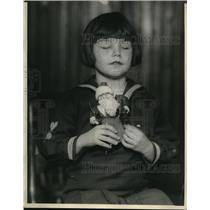 1923 Press Photo Margaret Malfetti, 6 yr old blind girl