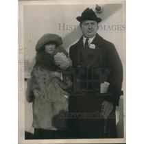 1922 Press Photo Mr Mrs Richard Ritter New York SS Reliance Swimming Champions