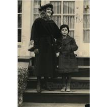 1921 Press Photo Ida Schnall With 8 Year Old Son Solomon