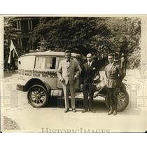 1927 Press Photo Scoutmaster G Jelinski, LA Snood, J Cicchanowski in D.C.