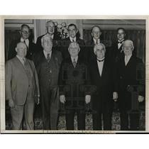 1933 Press Photo AFL committee in D.C.J Wilson,MF Ryan,W Green,F Morrison