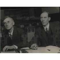 1919 Press Photo EB Stanwoo and WH Calvin stand trial