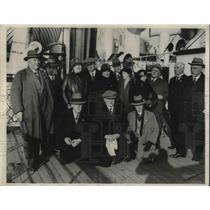 1931 Press Photo Championship British Bowling team on the Lancastaia