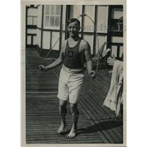 1922 Press Photo Tom Morris, training at Dover for a week. - nes11005