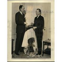 1931 Press Photo Herbert H. Straus & Clarance D. Chamberlin Noted Aviator