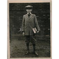 1919 Press Photo Jacob Shankman, 13, youngest student at Harvard University.