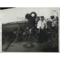 1932 Press Photo Plane of Alexander Stillman, made force landing near Gary, Ind