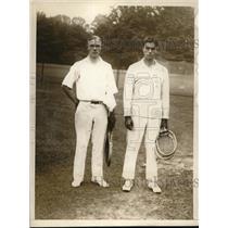 1921 Press Photo Cranstin Holman, Capt Ogden of Stanford U tennis - nes12996
